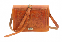 Moroccan  Bag  Real Leather  Messenger Crossbody Handbag Rich Tan Handmade VLB12